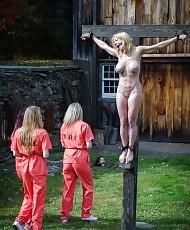 Prison chicks get dominated