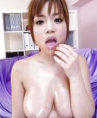 Two cocks for a busty Asian