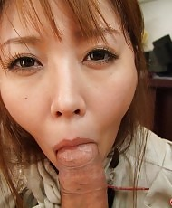 Blowjob from a busty lady