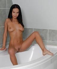 Having fun in the bathroom