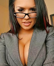 Nerdy girl in the office