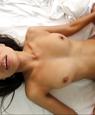 Lusty Asian gets creampied
