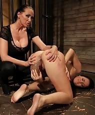 Horny mistress dominates