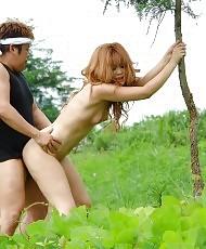 Adorable Asian having sex