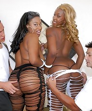 Two girls with a white man
